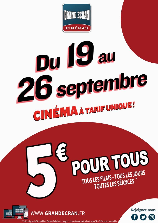 SEMAINE 5€ pour TOUS !