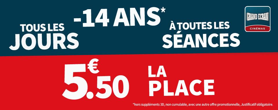 5.50€ -14 ANS